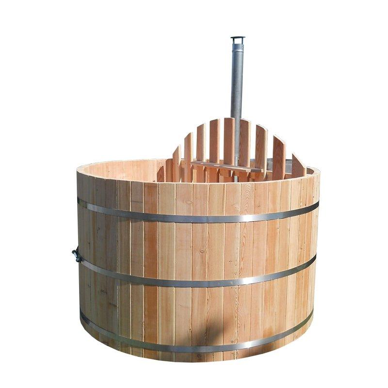 Badefass Bottich Hot Tub D 1 8 M Larche Ohne Ofen Badetonne Sauna