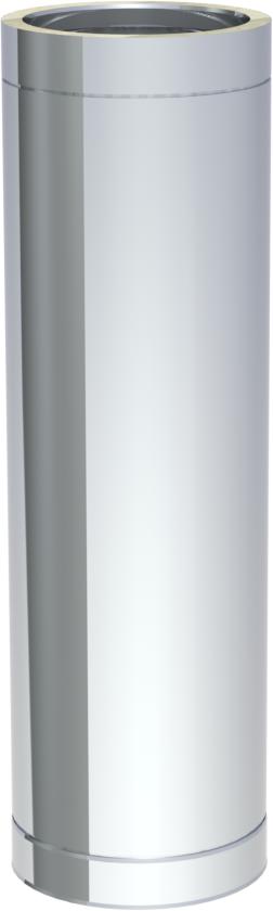 edelstahlschornstein doppelwandig dn150 1000 mm rohrelement abgas rohr 0 5 mm kamin rauchrohr. Black Bedroom Furniture Sets. Home Design Ideas